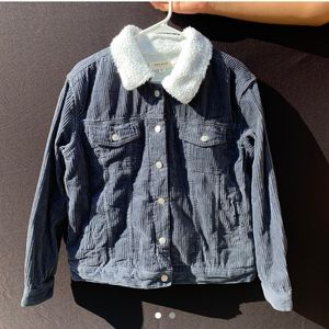 pacsun sherpa corduroy trucker jacket